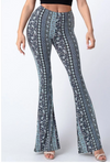 Bell Bottom Paisley Pant Light Blue
