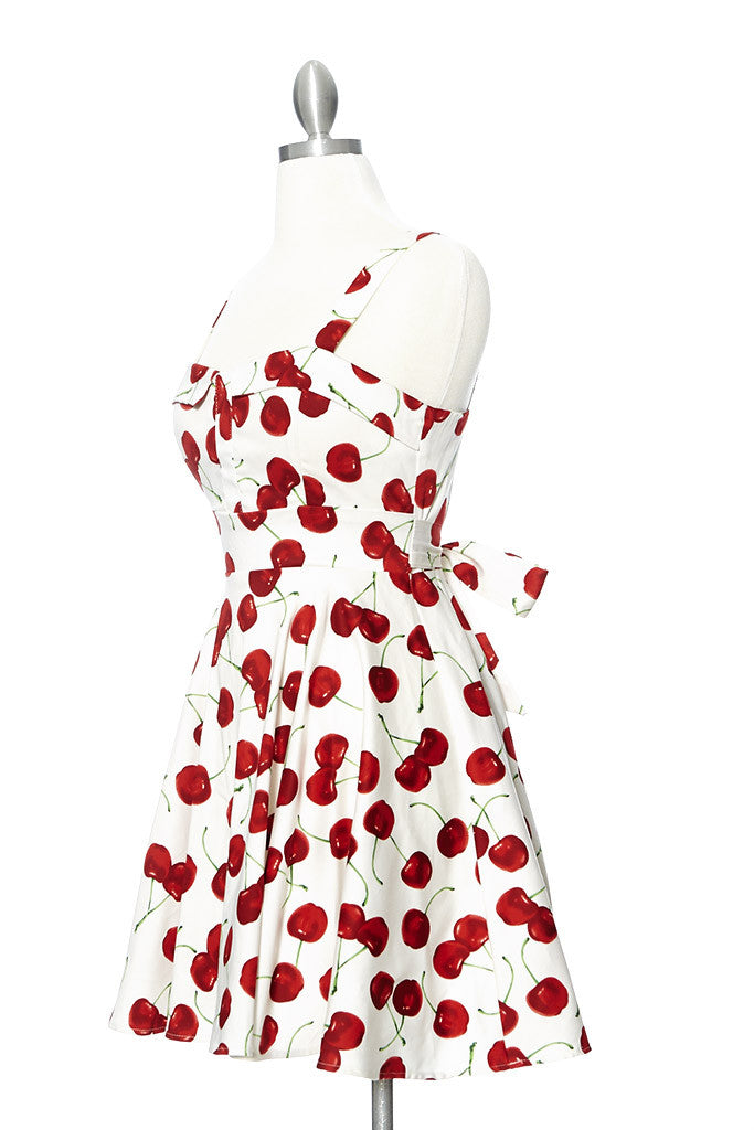 Cherry Pie Marilyn Dress - White