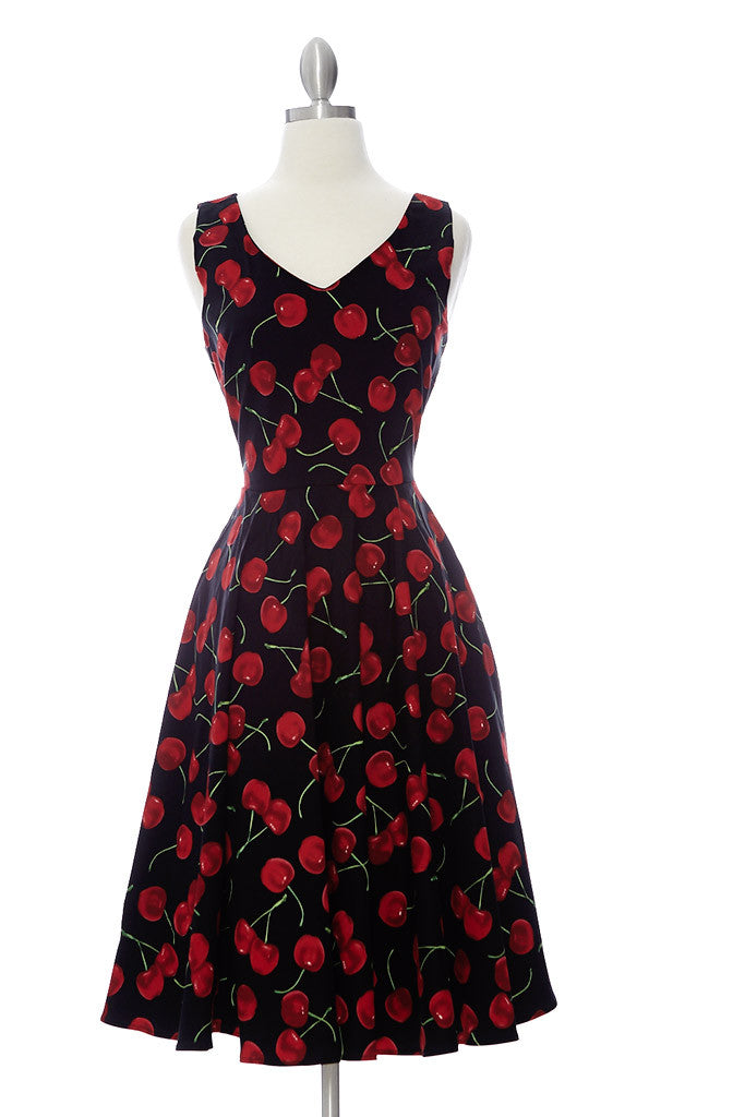 Claire Dress - Cherry