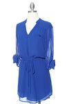 Coolin' It Shirt Dress - Blue