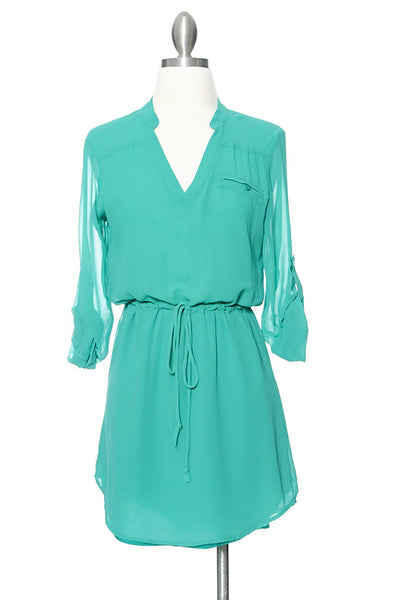 Coolin' It Shirt Dress - Green