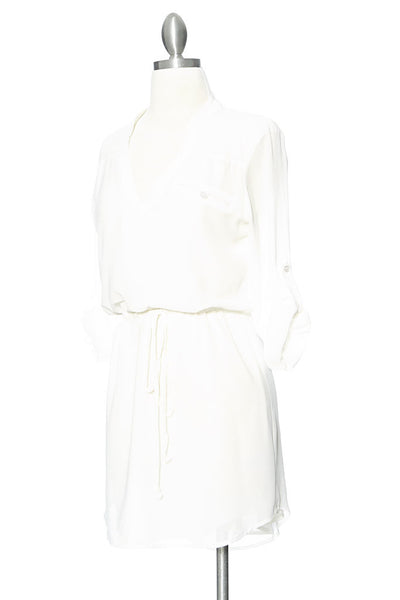 Coolin' It Shirt Dress - White
