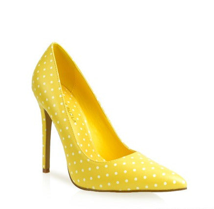 Polka Dottin Pump Yellow