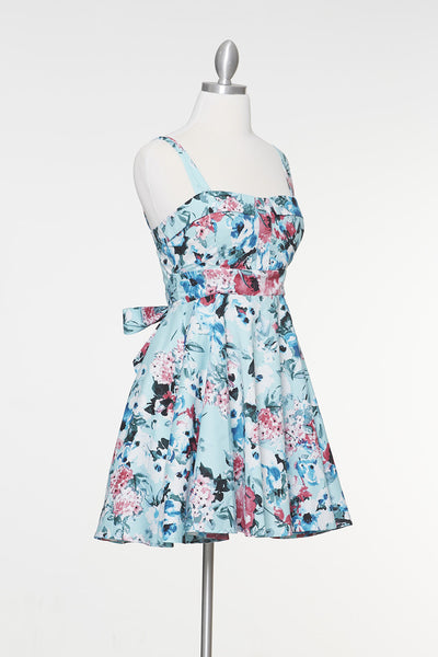 Endless Floral Marilyn Dress - Mint
