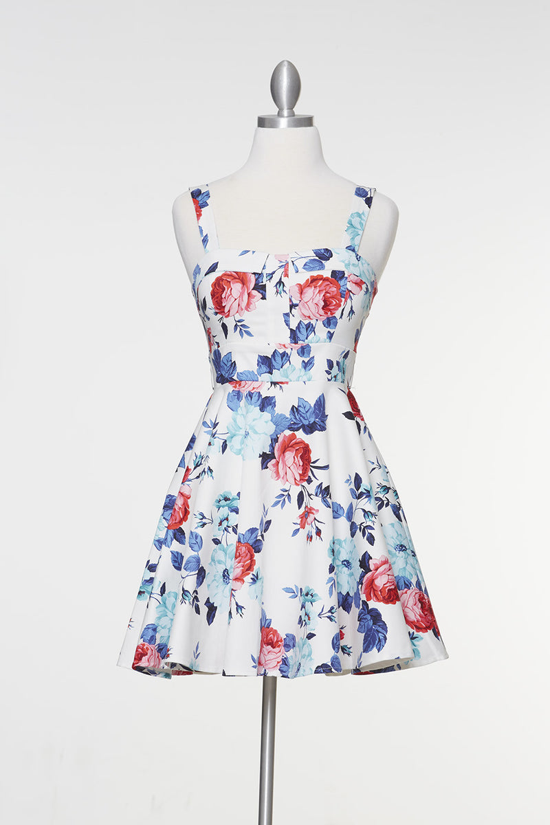 Endless Floral Marilyn Dress - White