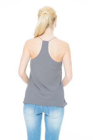 String Top - Gray