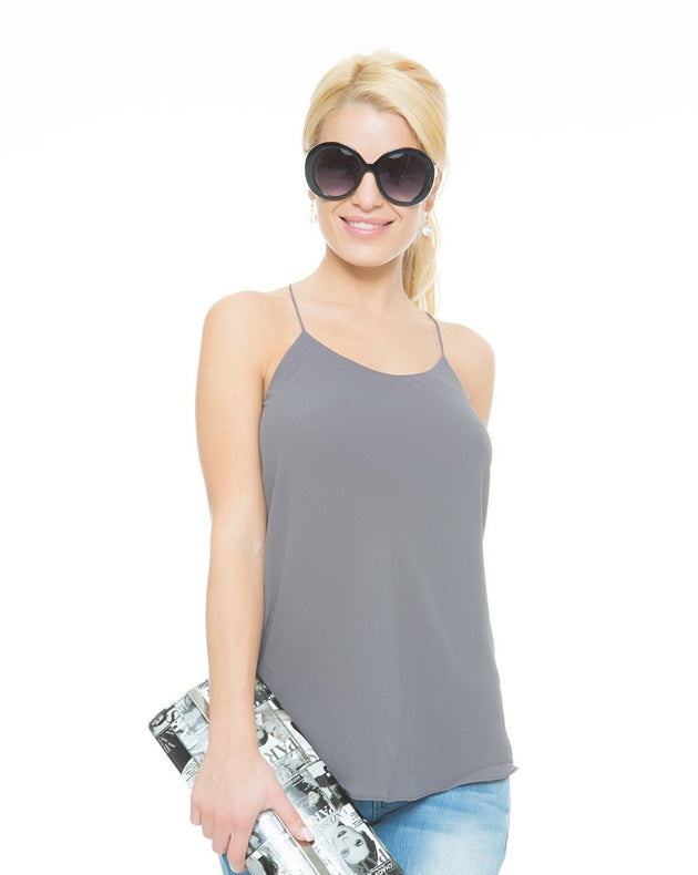 A Night Out String Top - Grey