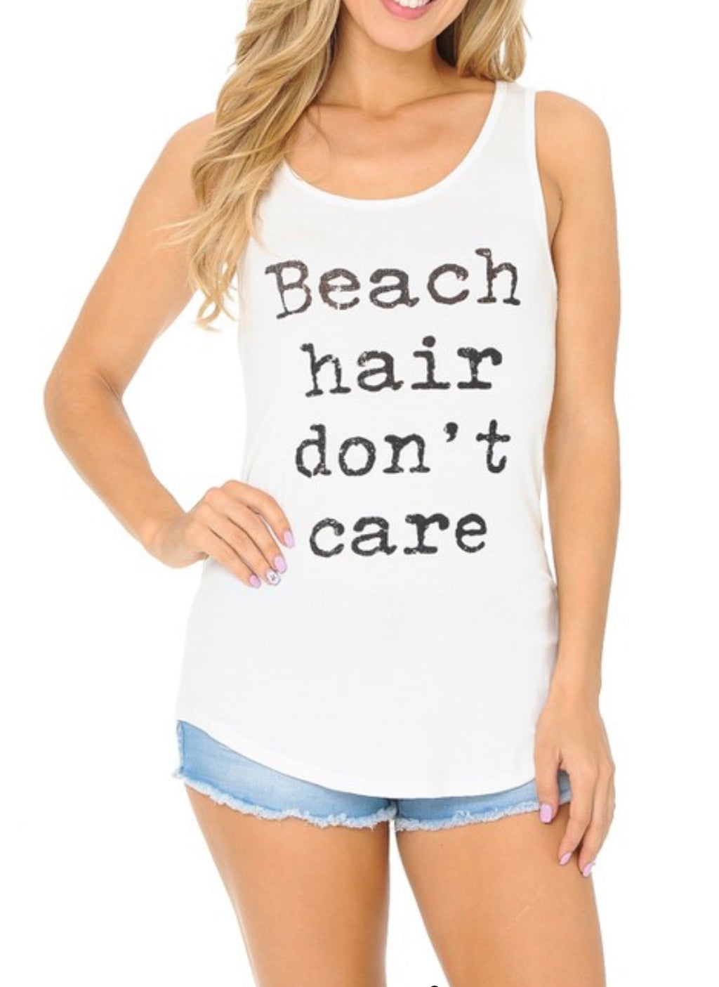 Beach Hair Don't Care White