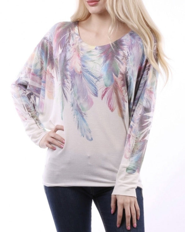 Feather Top Pastel