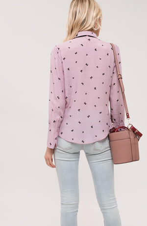 Butterfly Top Pink