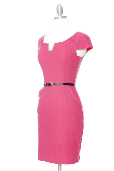 JACKIE O Dress - Fuchsia