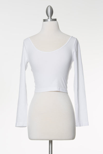 Late Nights Crop Top - White