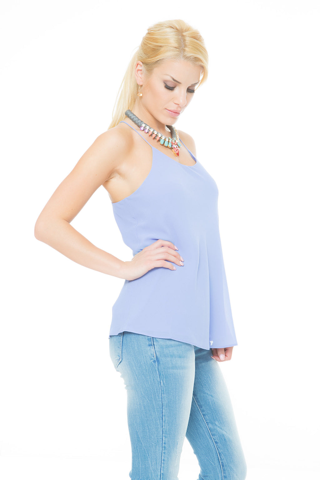 A Night Out String Top - Lavender