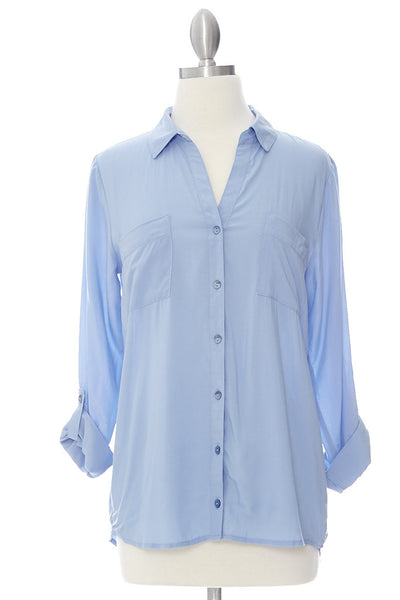 Loosen Up Shirt - Pastel Blue