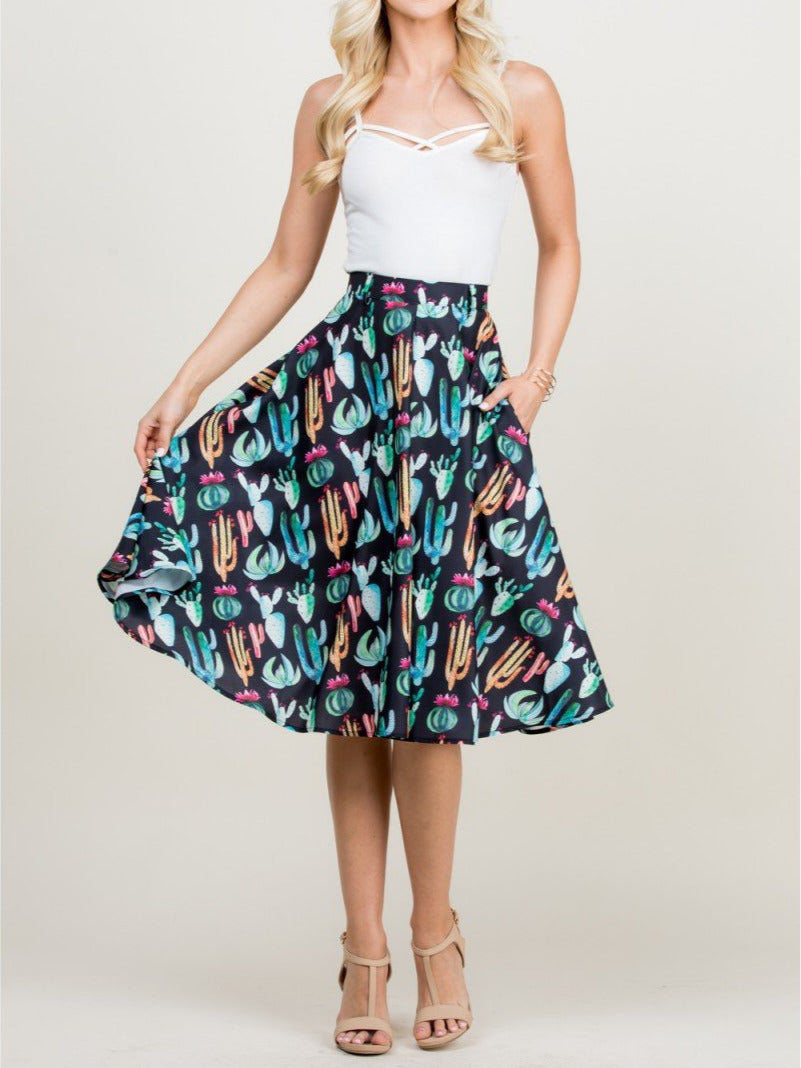 Desert Rose Cactus Skirt