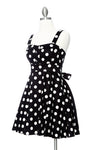 Merry Marilyn Big Polka Dot Black Dress