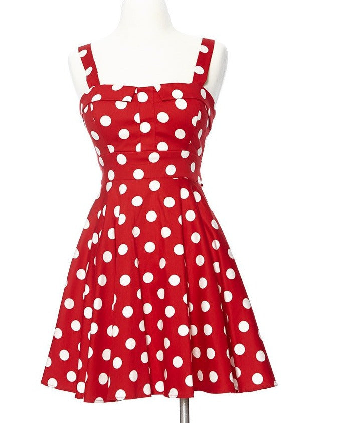 Merry Marilyn Polka Dot Dress - Red