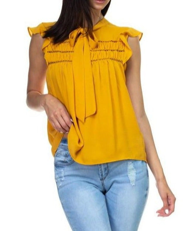 Mary Mary Mustard Tie Top
