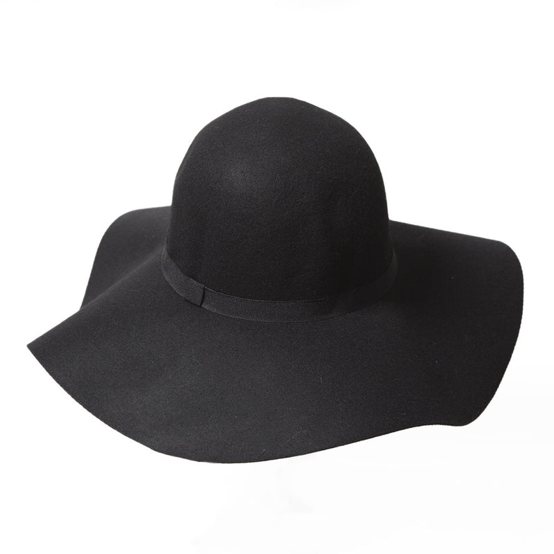 Black Oversized Fedora Hat