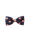 Not Another Dot Bow Hair Clips - Navy