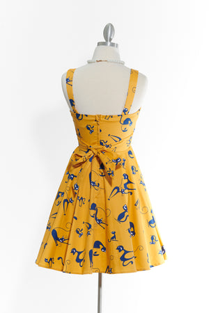 Cats Steal Hearts- Yellow Dress