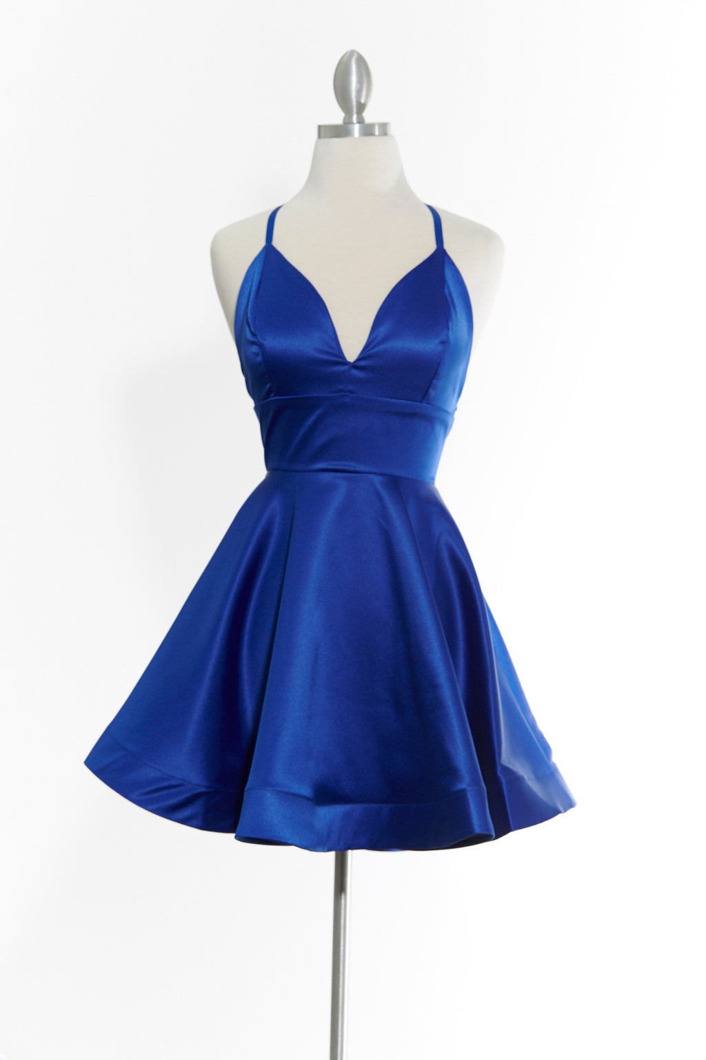 You Flutter Me Royal Blue Dress