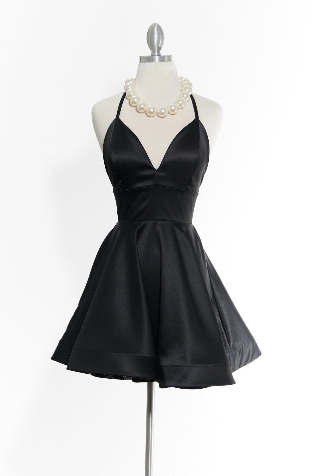 You Flutter Me Black Dress