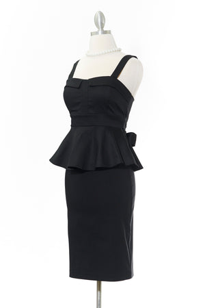 Pretty in Peplum Black Top