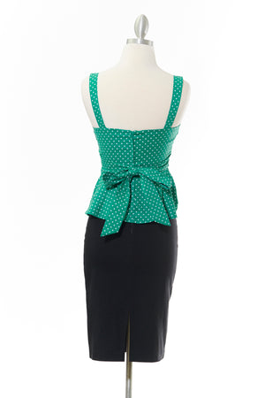 Pretty in Peplum Polka Dot Top