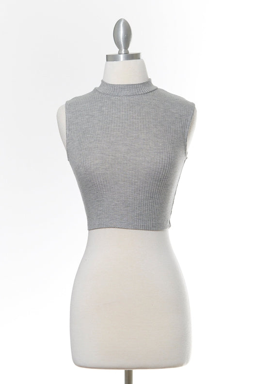 Staple Worthy Gray Crop Top