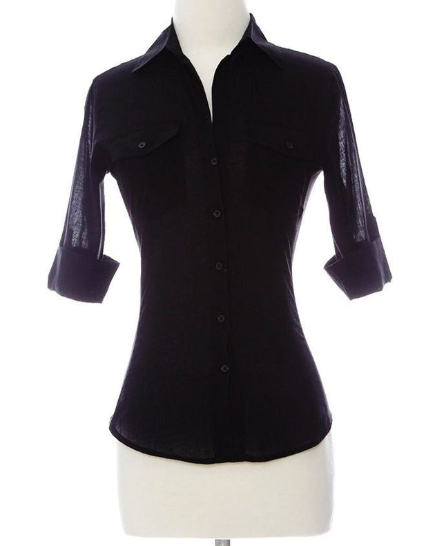 Working Girl Top - Black