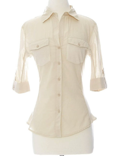 Working Girl Top - Taupe