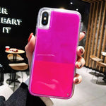New Fashion Noctilucent Dynamic Liquid Quicksand For iPhone