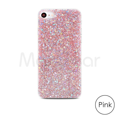 Silicone Bling Powder Soft Case For iPhone