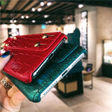 Leather Croc iPhone Cover with Hand Sleeve - More Colors!