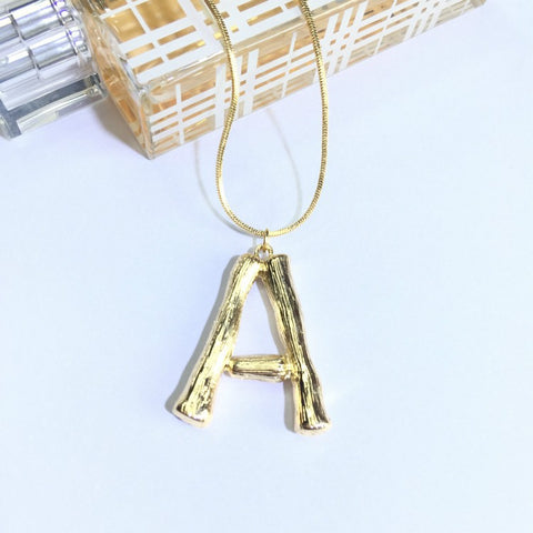 Initial Gold Chain Necklace