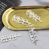 1PC Bling Letter Hairpins