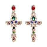 Tahlia Crystal Cross Earrings