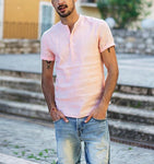 Carlton Short Sleeve Linen T Shirt