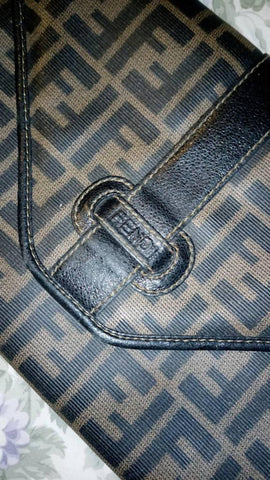 1970's Era FENDI Clutch Handbag Purse Designer Italian Authentic Vintage