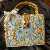 Handmade Upcycled Blue Marble Chanel Handbag - Only 1 - Completely Custom
