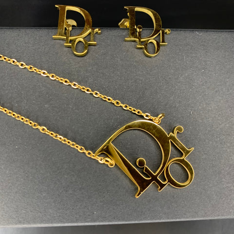 Pre Order for March 1 - Dior Gold 18k Gold Dipped Set
