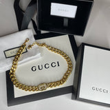 Refurbished Gold Gucci Chain Necklace - 16 inches in length - Stamped for authenticity