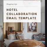 Custom Email Template to contact brands & hotels for collabs