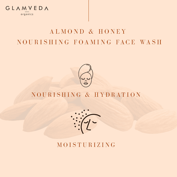 Glamveda Almond & Honey Nourishing Foaming Face Wash 150ml