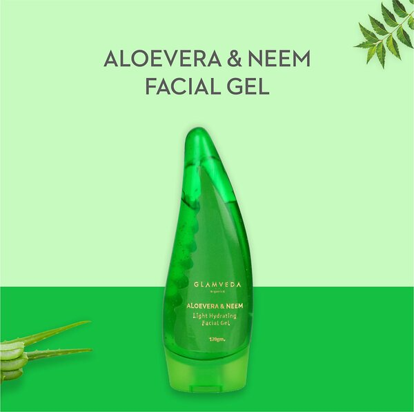 Glamveda Aloe Vera & Neem Light Hydrating Gel 120ml