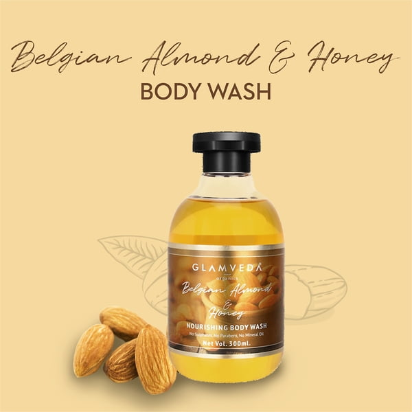 Glamveda Belgian Almond & Honey Nourishing Body Wash 300ml