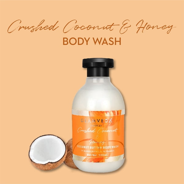 Glamveda Crushed Coconut & Honey Body Wash 300ml