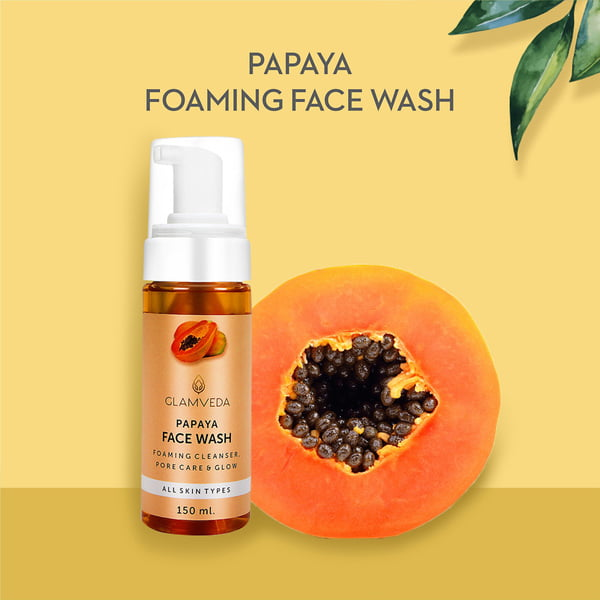 Glamveda Papaya Pore Care & Glow Face Wash 150ml