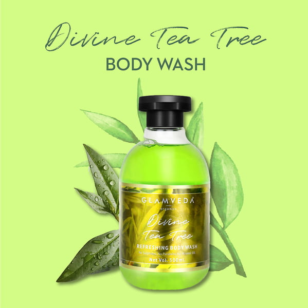 Glamveda Divine Tea Tree Nourishing Body Wash 300ml